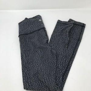 Lululemon High Times  Black Gray Leggings